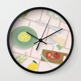 Kitchen Table Wall Clock