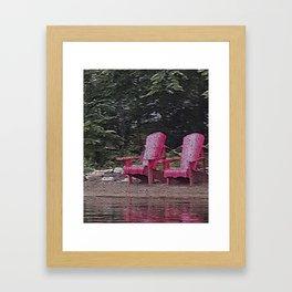 Algonquin Red Framed Art Print