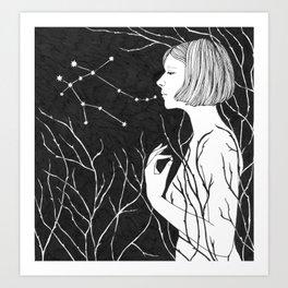Under Stars (Aurora Aksnes) Art Print