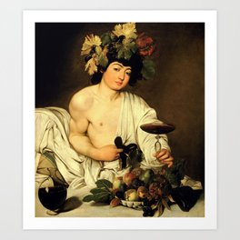"Michelangelo Merisi da Caravaggio ""Bacchus"" Art Print"