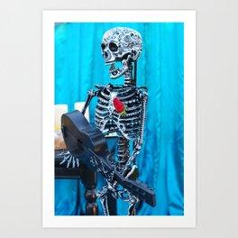 Bare Bones Guitar Art Print