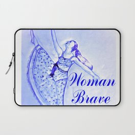 Woman Brave Strong Courageous Laptop Sleeve