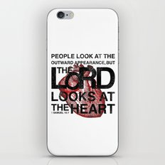 God looks at the heart iPhone & iPod Skin