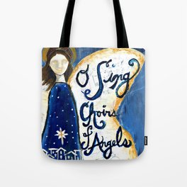 Christmas Hymn Angel  Tote Bag