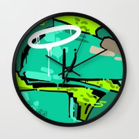 spain Wall Clocks featuring SPAIN by clogtwo