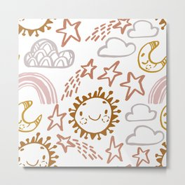 Happy Sun Metal Print