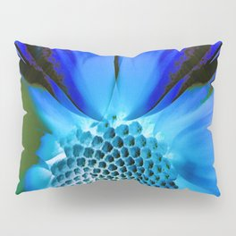 Daisy Blue Pillow Sham