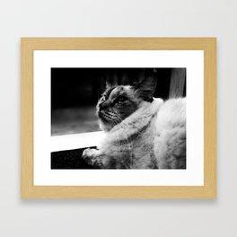 leave me alone:) Framed Art Print