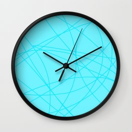 Spring Blue Lines Pattern Wall Clock