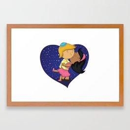 Good Night Kiss Framed Art Print