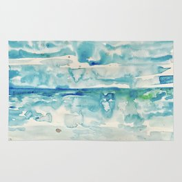 Miami Beach Watercolor #6 Rug