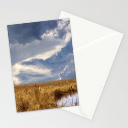 landscape 002: golden slumbers, big sky Stationery Cards