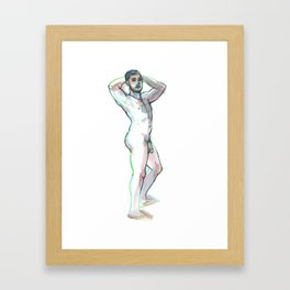 JON, Nude Male by Frank-Joseph Framed Art Print