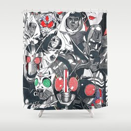 KR Black and black RX Shower Curtain