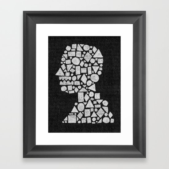 Untitled Silhouette in Reverse. Framed Art Print