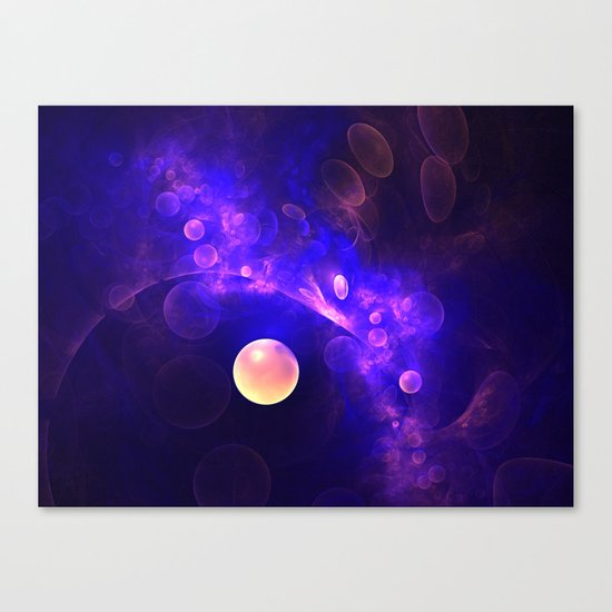 Purple Universe Canvas Print