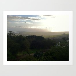 View from the Hearst Mansion Art Print