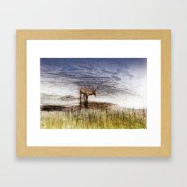 Cooling off Framed Art Print