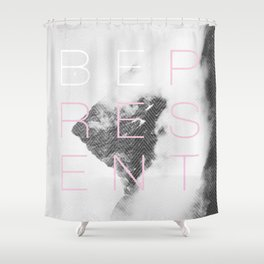 Be Present Shower Curtain