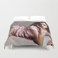 emma watson Duvet Covers featuring Emma Watson by Susan Lewis