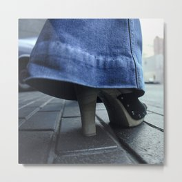 Bell Bottoms Jeans and Platform Shoes Metal Print