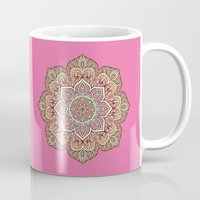 islam Mugs featuring Pink Mandala by Mantra Mandala