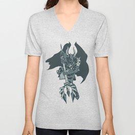 Nightmare Demonic Knight Unisex V-Neck