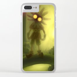 Skull kid in forest Clear iPhone Case