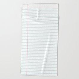 Notepaper Beach Towel
