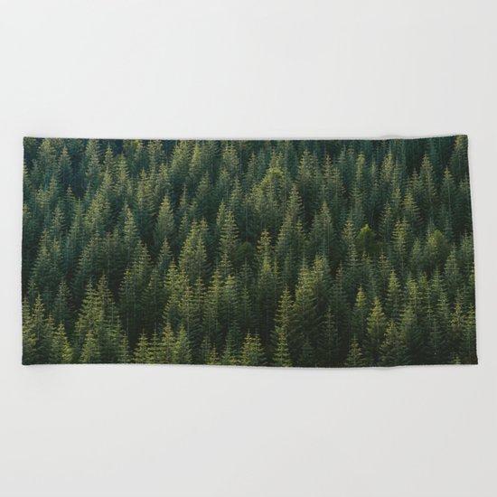 Evergreen #woods Beach Towel