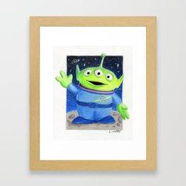 Toy Story's Green alien Framed Art Print