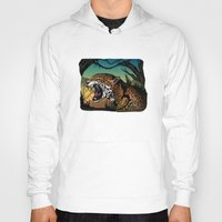 jaguar Hoodies featuring Jaguar by Adamzworld