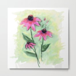 Purple Coneflowers Metal Print