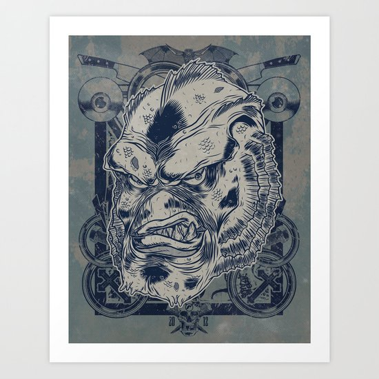 Classic Monsters Series: Gills Art Print