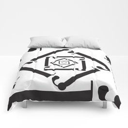 """Dizzy - The Didot """"j"""" Project Comforters"""