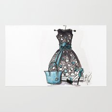 Dots and Shoes Fashion Watercolor Rug