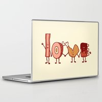 meat Laptop & iPad Skins featuring Meat Love U by Charity Ryan
