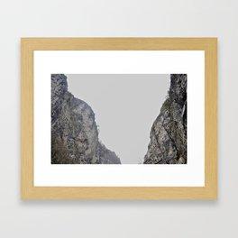 Twin Mountains Framed Art Print