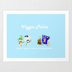 Veggie Police pt.2 Art Print
