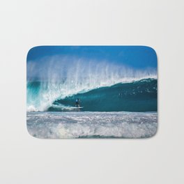 Surfing Pipe Bath Mat