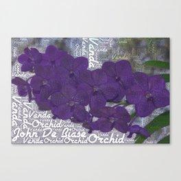 John De Biase Vanda Orchid  Canvas Print