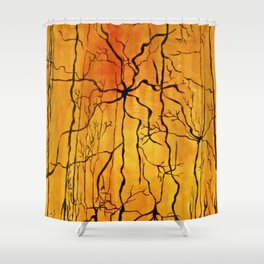 Neural Activity (An Ode to Cajal) Shower Curtain