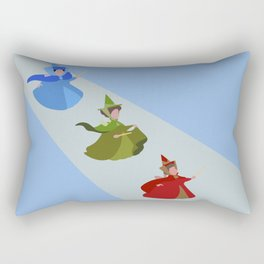 3 Fairies (Blue)  Rectangular Pillow