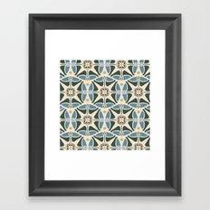 Blue Tulips - Circle Pattern Framed Art Print