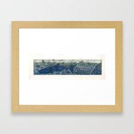Sea Life Etching - White Framed Art Print