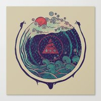 water Canvas Prints featuring Water by Hector Mansilla
