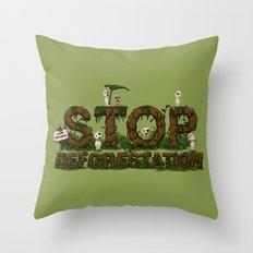 Save Kodamas Throw Pillow