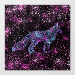 Cosmic Fox Canvas Print