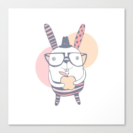 Mr.Rabbit Canvas Print