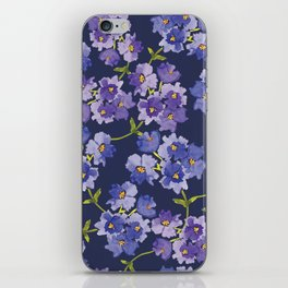Purple Watercolour Blossom All Over Pattern iPhone Skin